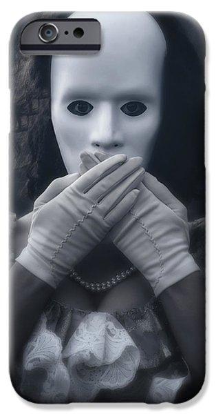 masked woman iPhone Case by Joana Kruse