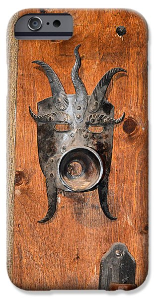 Charles Bridge Digital Art iPhone Cases - Masks medieval inquisition. Next to Charles Bridge. Prague. Czech   Republic. iPhone Case by Andy Za