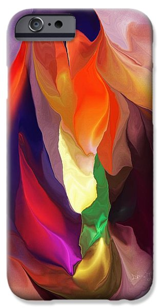 Abstract Digital iPhone Cases - Masquerade iPhone Case by David Lane