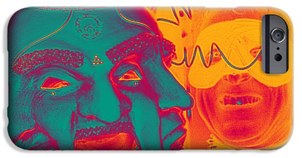 Digitally Signed Mixed Media iPhone Cases - Masquerade Electric iPhone Case by Feile Case