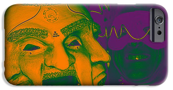 Digitally Signed Mixed Media iPhone Cases - Masquerade Mardi Gras iPhone Case by Feile Case