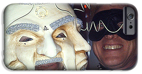Tripple iPhone Cases - Masquerade Masked Frivolity iPhone Case by Feile Case