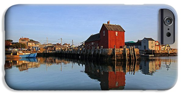 Lobster Shack iPhone Cases - Massachusetts Rockport Harbor iPhone Case by Juergen Roth