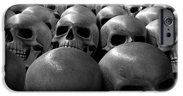 Anatomy iPhone Cases - Massacre Of Skulls iPhone Case by Allan Swart