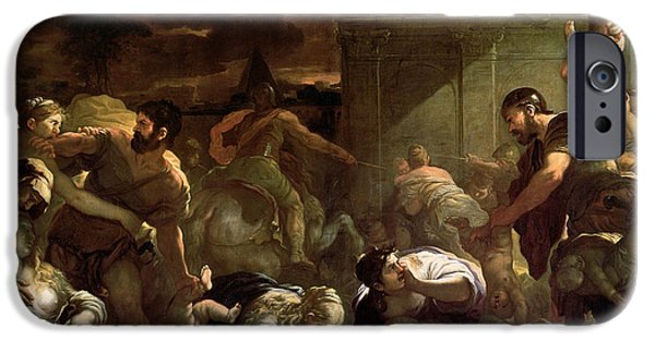 Anguish iPhone Cases - Massacre of the Innocents iPhone Case by Luca Giordano