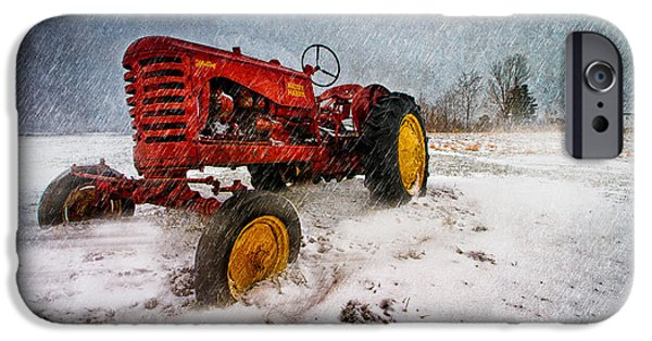 Winter Storm iPhone Cases - Massey Harris Mustang iPhone Case by Bob Orsillo