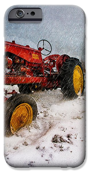 Massey Harris Mustang iPhone Case by Bob Orsillo