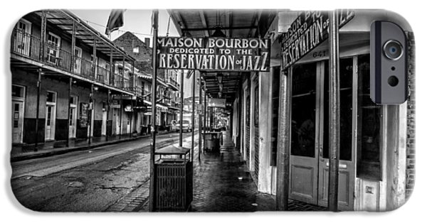 Architecture iPhone Cases - Maison Bourbon Jazz Club 2 iPhone Case by Andy Crawford