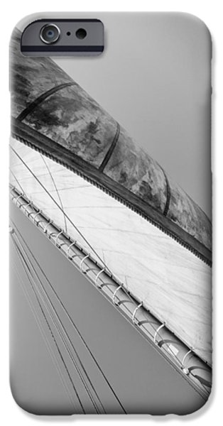 Pleasure iPhone Cases - Mast And Sail III iPhone Case by Marco Oliveira
