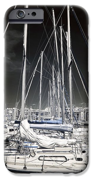 Recently Sold -  - Sailing iPhone Cases - Mast Angles iPhone Case by John Rizzuto