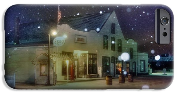 Snowy Night iPhone Cases - Mast General Store iPhone Case by Benanne Stiens
