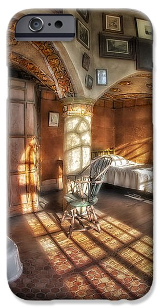 Master Bedroom At Fonthill Castle iPhone Case by Susan Candelario