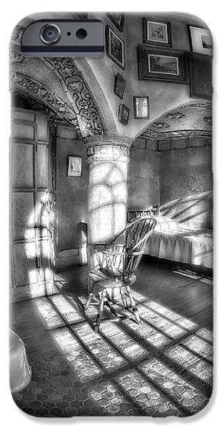 Master Bedroom At Fonthill CastleBW iPhone Case by Susan Candelario