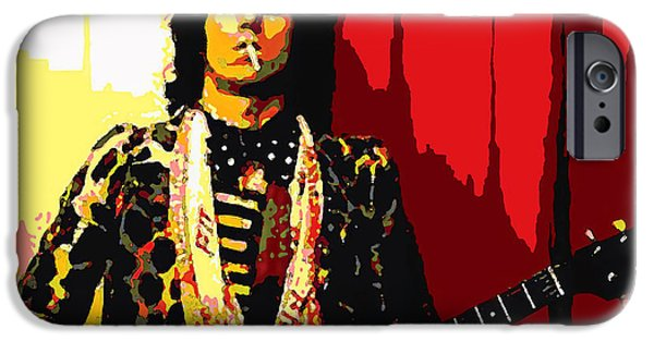 Keith Richards iPhone Cases - Master Keith iPhone Case by John Travisano