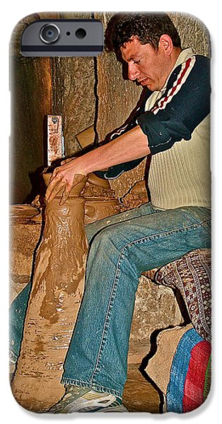 Master Potter iPhone Cases - Master Potter at Work in Avanos-Turkey iPhone Case by Ruth Hager