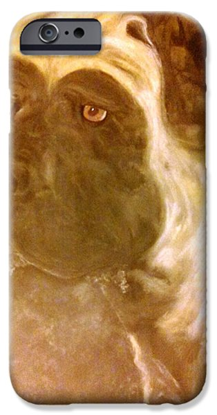 Michelle iPhone Cases - Mastiff Oath iPhone Case by Michelle Reid