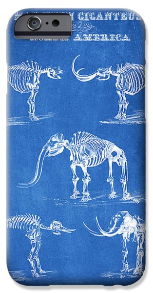 Wild Animals Digital Art iPhone Cases - Mastodon Giganteus of North America iPhone Case by Aged Pixel