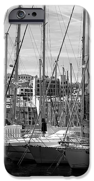 Masts in the Harbor iPhone Case by John Rizzuto