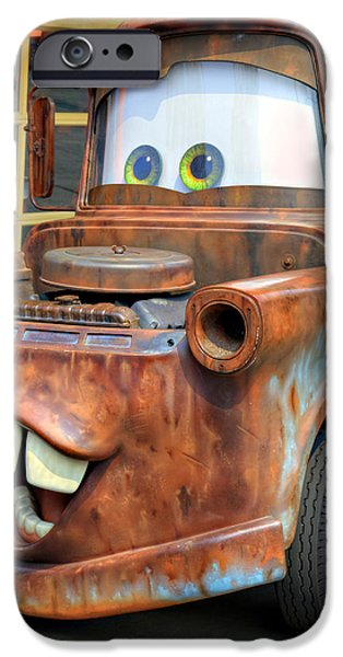 Tow Truck iPhone Cases - Mater iPhone Case by Ricky Barnard