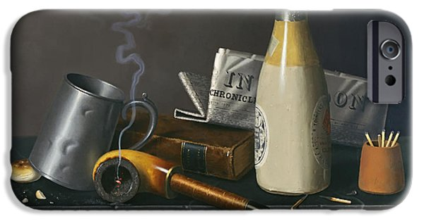 Concept Paintings iPhone Cases - Material for a Leisure Day iPhone Case by Hartnett