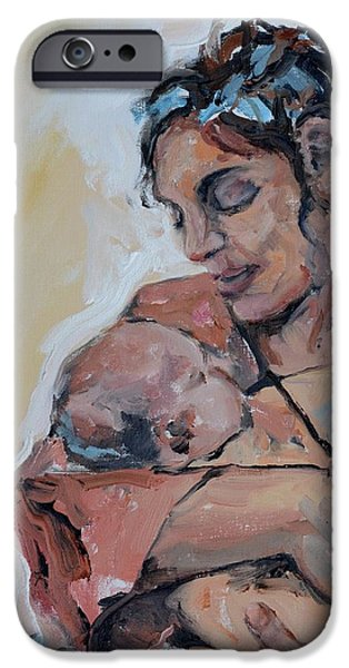 Little iPhone Cases - Maternal Love iPhone Case by Donna Tuten
