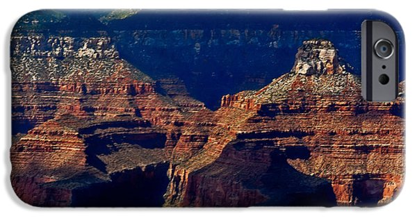 Grand Canyon Mixed Media iPhone Cases - Mather Point Grand Canyon iPhone Case by  Bob and Nadine Johnston