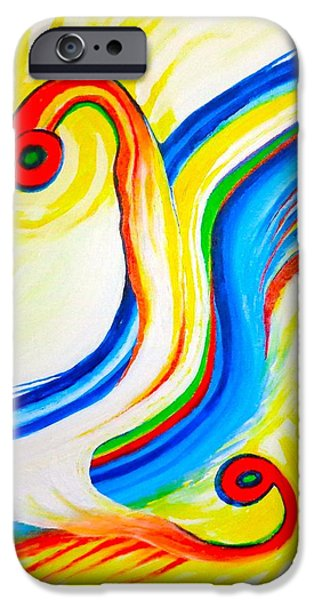 Contemporary Abstract iPhone Cases - Mating Dance iPhone Case by Jean Tatton Jones