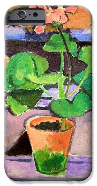 Cora Wandel iPhone Cases - Matisses Pot Of Geraniums iPhone Case by Cora Wandel