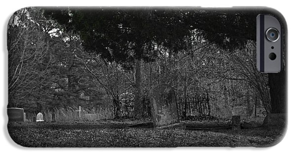 Cemetary iPhone Cases - Matoaca Cemetary iPhone Case by Brian Archer