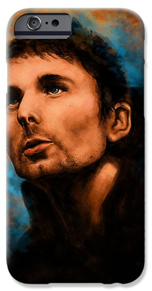 Bassist iPhone Cases - Matt Bellamy iPhone Case by J England