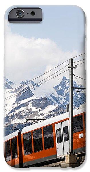 Matterhorn railway Zermatt Switzerland iPhone Case by Matteo Colombo