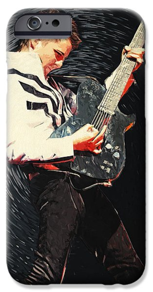 Electronic iPhone Cases - Matthew Bellamy iPhone Case by Taylan Soyturk