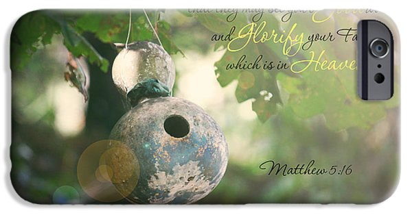Gourd iPhone Cases - Matthew Verse iPhone Case by Lena Auxier
