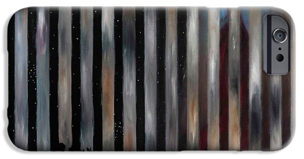 Outer Space Paintings iPhone Cases - Mattt 2014 iPhone Case by Juliet Sarah Marx