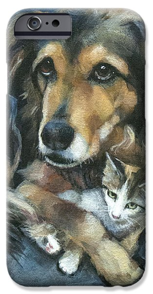 Maty and Lennox iPhone Case by Mary Medrano