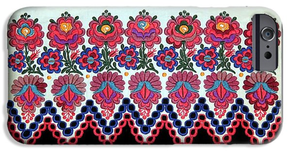 Andrea Lazar iPhone Cases - Hungarian Folk Art Embroidery from Sioagard iPhone Case by  Andrea Lazar