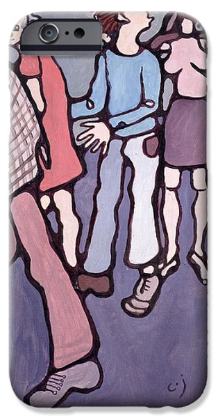 Patient iPhone Cases - Maudsley Hospital Inmates, 1974 Oil On Canvas iPhone Case by Charlotte Johnson Wahl
