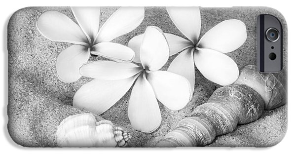 America iPhone Cases - Maui Beach Treasures BW iPhone Case by Susan Candelario