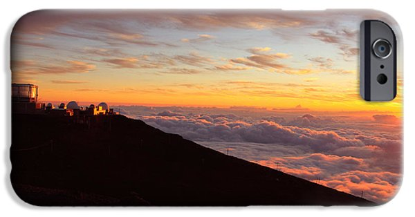 Sunset Posters iPhone Cases - Maui Hawaii sunset from Haleakala  iPhone Case by Christopher  Ward