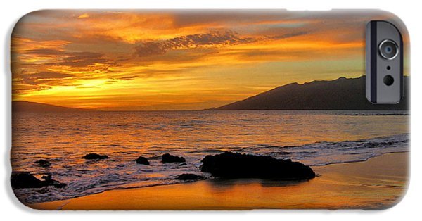 Sunset iPhone Cases - Maui Sunset iPhone Case by Stephen  Vecchiotti