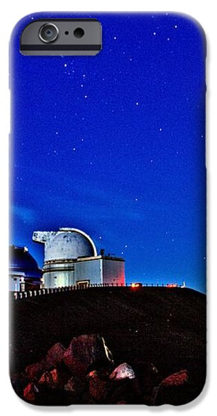 Mauna Kea at Moon Rise iPhone Case by Bob Kinnison