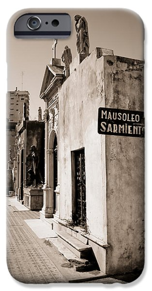President iPhone Cases - Mausoleums Of Domingo Sarmiento iPhone Case by Panoramic Images