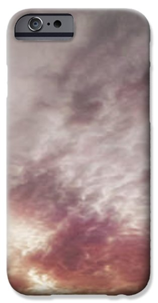 Mauve Skies iPhone Case by Holly Martin