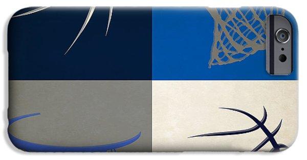 Nba iPhone Cases - Mavericks Ball And Hoop iPhone Case by Joe Hamilton