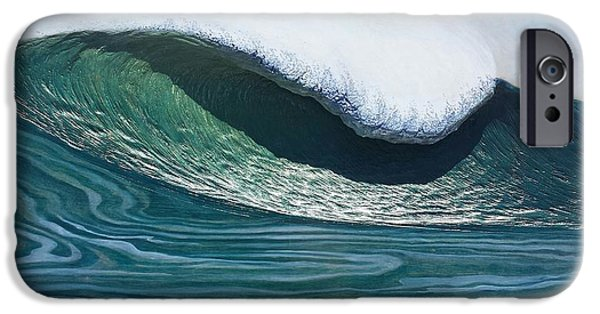 Ocean Reliefs iPhone Cases - Mavericks iPhone Case by Nathan Ledyard
