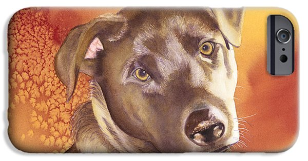 Chocolate Lab Paintings iPhone Cases - Max iPhone Case by Amanda Schuster