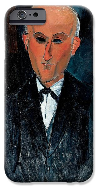 Author iPhone Cases - Max Jacob, C.1916-17 Oil On Canvas iPhone Case by Amedeo Modigliani