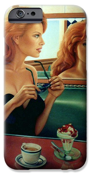 Diners iPhone Cases - Maxine Revealed iPhone Case by Patrick Anthony Pierson