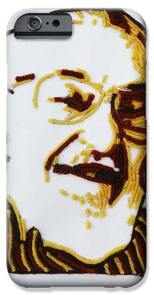 Gray Hair Mixed Media iPhone Cases - Maxs portrait iPhone Case by PainterArtist FINs husband Maestro