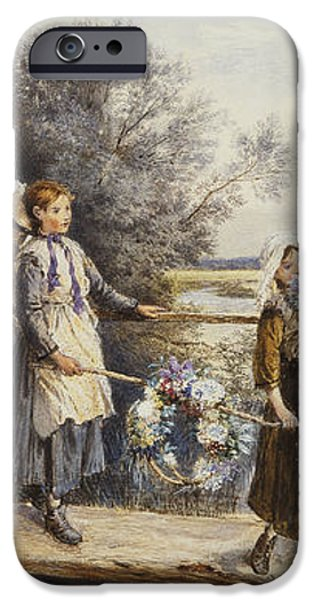 May Day Garlands iPhone Case by Myles Birket Foster